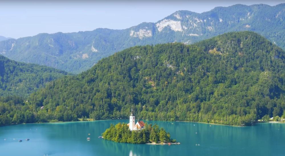 Озеро Блед (Блейско), Мариинская церковь на островке